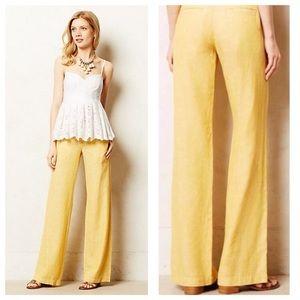 Anthropologie Pilcro Wide Leg Linen Pant